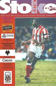 Football-Programme-Stoke-City-v-Wolves-Div-1-5-2-1994