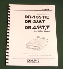 Alinco DR-135T/235T/435T Instruction Manual - comb bound & protective covers !