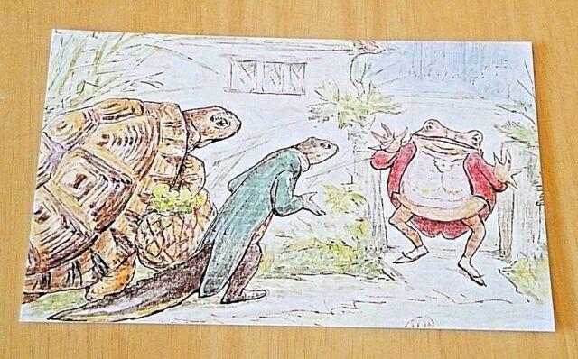 BEATRIX POTTER POSTCARD ~ MR JEREMY FISHER GREETS HIS FRIENDS ~1906 DESIGN ~ NEW