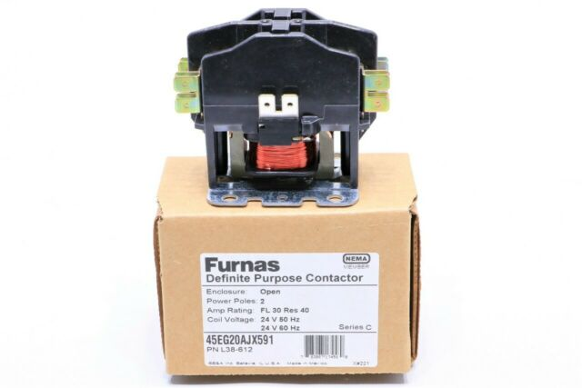 NEW Furnas 45EG20AJX591 Definite Purpose Contractor 2 Pole 24V 60 HZ Open