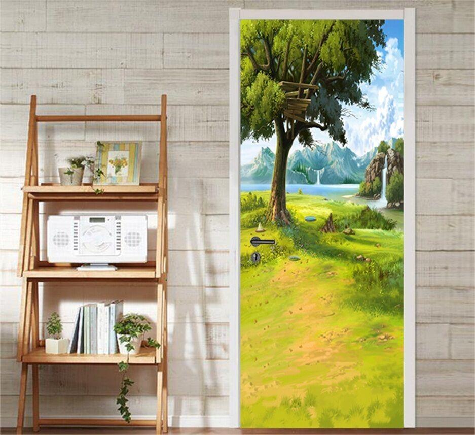 3D Grasland 87 Tür Wandmalerei Wandaufkleber Aufkleber AJ WALLPAPER DE Kyra