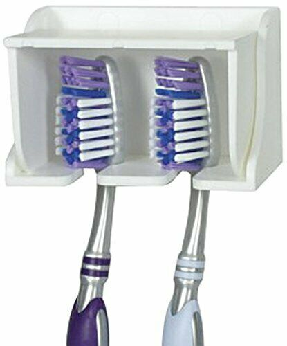 Wall Mounted Toothbrush Holder With Germ Protecting Cover