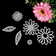 6Pcs Metal Leaves Flowers Cutting Die DIY Paper Card Embossing Decor Stencil