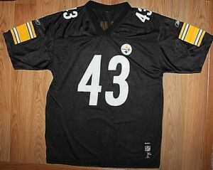 20be88152ecab YOUTH REEBOK NFL PITTSBURGH STEELERS TROY POLAMALU  43 FOOTBALL ...