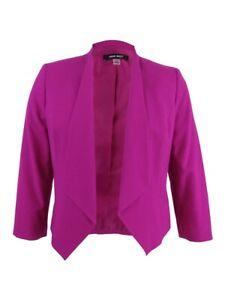 Nine-West-Women-039-s-Plus-Size-Star-Collar-Blazer