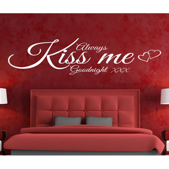 Always Kiss Me Decal Vinyl Decor Wall Sticker Home Bedroom Wall Decor Ornament