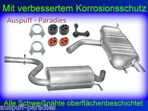 Abgasanlage Auspuff Endtopf für VW Golf Plus 1.6 FSi Fließheck Typ 5M1 521 + Kit