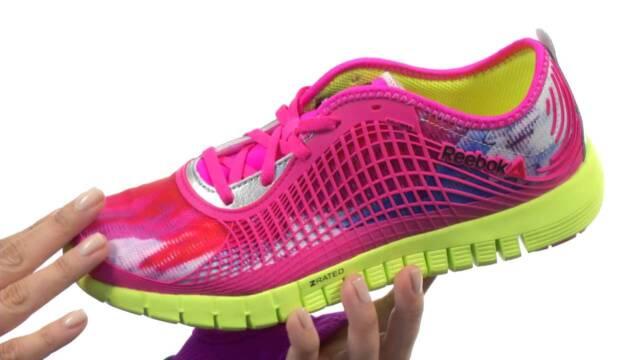 Yellow White Mesh Running Shoes Reebok Z Dual Ride Women/'s Gravel Pink