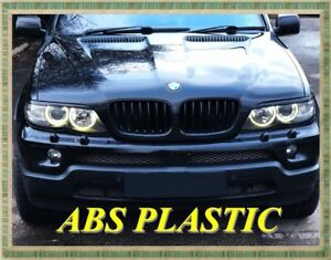 bmw x5 e53 2003 2006 eyebrows headlight brows abs plastic. Black Bedroom Furniture Sets. Home Design Ideas