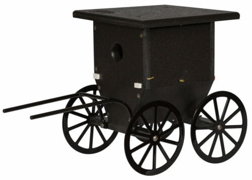 """8""""w x 10½""""h Buggy wren house Amish built Weatherproof Polywood Measures"""