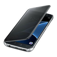 Samsung Galaxy S7 Case S-View Flip Cover Clear/ Black