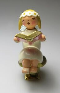 ERZGEBIRGE Wendt Kuhn? Angel on clip Germany Christmas ...