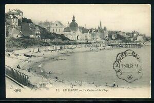 """Cachet """" Le Havre Central """" Sur Carte Postale En 1914 - Réf M130 Pour Aider à DigéRer Les Aliments Gras"""