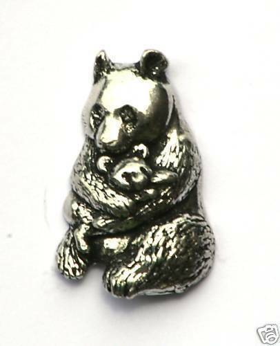 Panda Pewter Pin Badge Supplied in Gift Pouch NEW