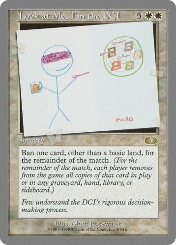 Look at Me I/'m the DCI Unglued PLD White Rare MAGIC GATHERING CARD ABUGames