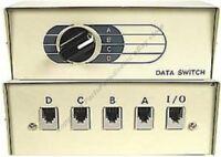 Rj11/12 Phone Switch Box 4way Telephone 6p6c $ship Disc