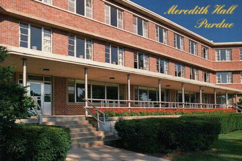 Meredith Hall West Lafayette Indiana --- Postcard Purdue University Residence