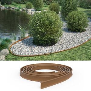 Détails sur Bordure de pelouse bordure pour potager bordure de jardin 11 cm  marron de 10 m