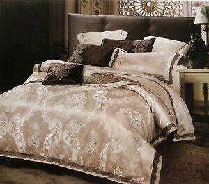 4 Tlg Bettwäsche Set Bettgarnitur Baumwolle Seide Bett Wäsche