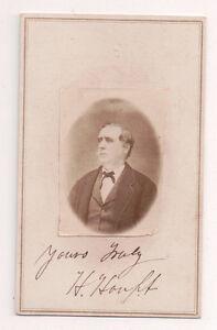 Vintage-CDV-Man-signed-H-Houpt-American-Politician-j-j-Thomas-Photo
