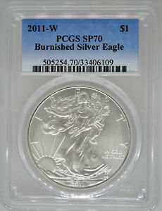 2011-W-PCGS-SP70-Burnished-Silver-Eagle-MS70-1-West-Point-American-Eagle