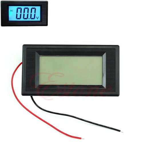 2 fils DC 3.5-30V LCD numérique Bleu Volt Panel Meter Voltmètre Moniteur Hot