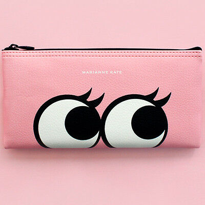 Marianne Kate Style Eyes Pencil Pouch 4 Colors Make-up Box Bag made in Korea