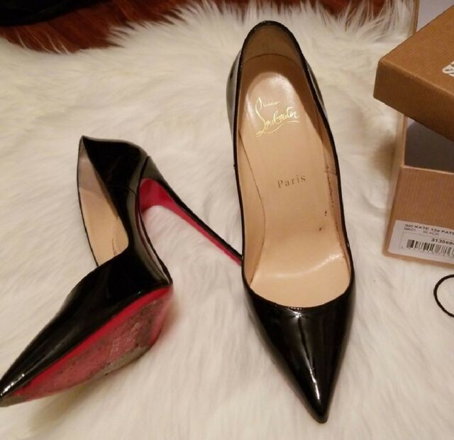 295571f1ec70 Christian Louboutin so Kate 120mm Patent Pump Black Size 37 for sale ...