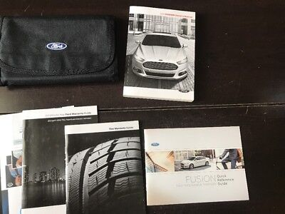 ford fusion owners manual  case oem  shipping