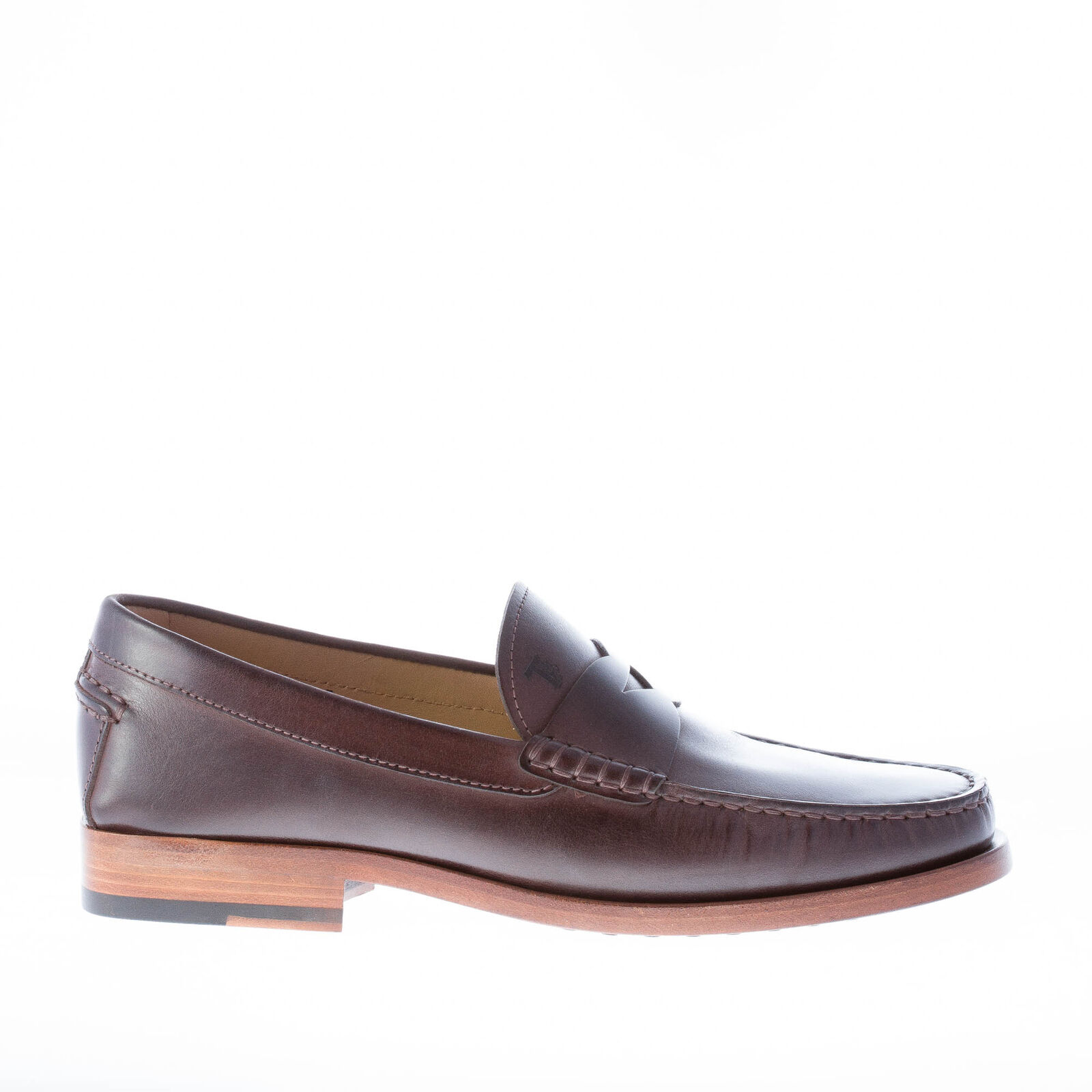 TOD'S herren schuhe men shoes Ebony brown calf leather penny bar loafer