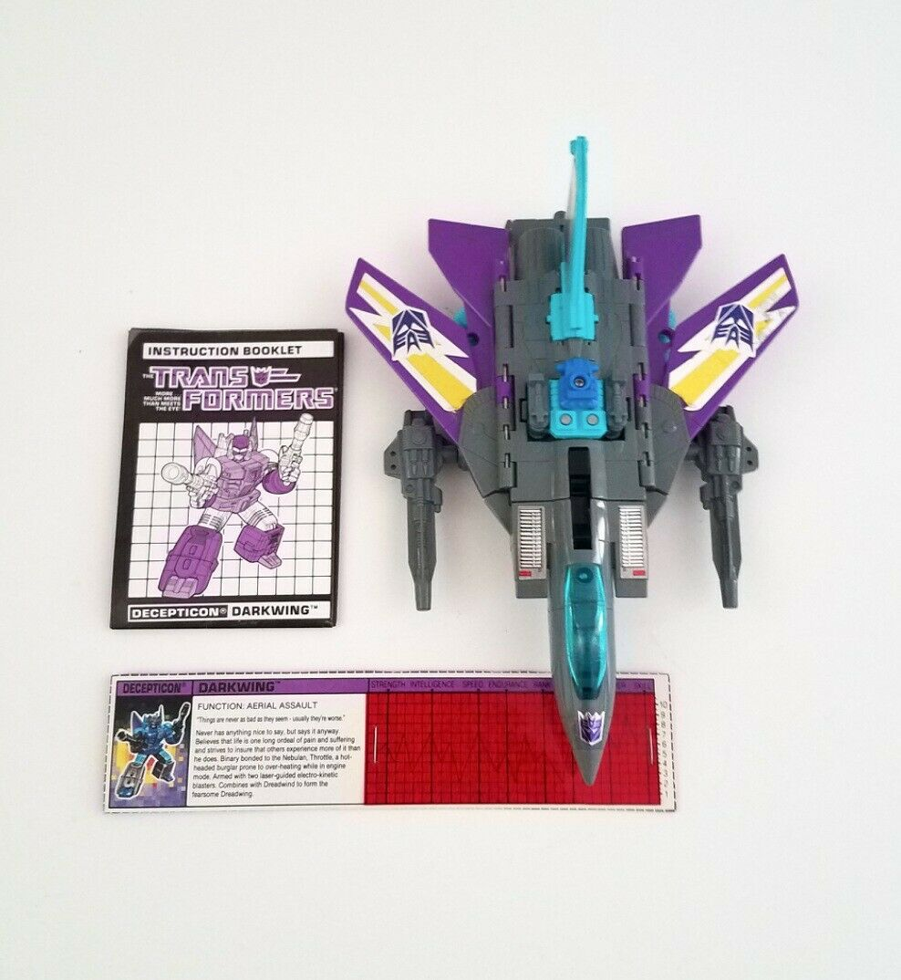 G1 Darkwing Powermaster 1988 Hasbro Transformer Thredtle Complete