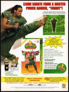 Mighty-Morphin-Power-Rangers-KARATE-CLUB-Orig-1994-Trade-AD-promo-JASON-FRANK