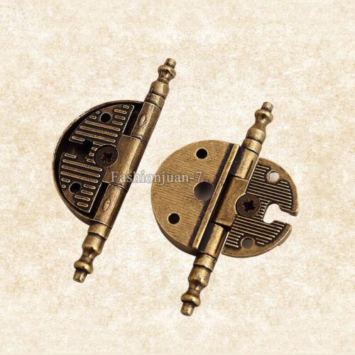 10PCS 3 in environ 7.62 cm European antique Charnière De Meubles Vêtements Placard Armoire Charnière de porte
