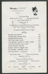 Lauderdale-by-the-Sea-FL-1956-MURPHY-039-S-RESTAURANT-Menu-Postcard-Lobster-3-50