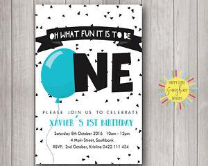Image Is Loading Custom Printable Boys Birthday Invitation 1st B