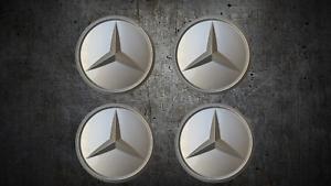 Original-Mercedes-Radnabendeckel-Felgendeckel-Nabendeckel-Barockfelgen-NEU