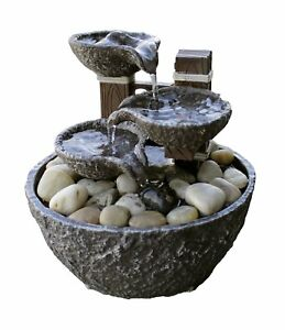 Image Is Loading Indoor Water Fountain Tabletop Waterfall Relaxation Cascading Led