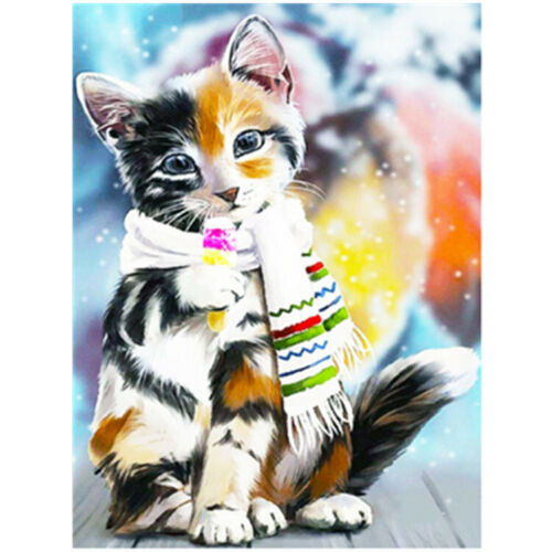 DIY Full Drill Cat 5D Diamond Painting Cross Stitch Art Embroidery Kits Decor