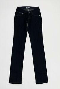 Lee-norma-jeans-donna-usato-slim-W26-L33-tg-40-stretch-denim-blu-boyfiend-T5103