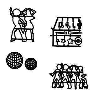 Patchwork-Cutters-DISCO-DANCERS-SILHOUETTE-Night-Club-Sugarcraft-Cake-Decorating
