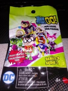 Teen-Titans-GO-2-034-Mini-Figure-Mystery-Bag-Set-of-4-sealed-bags-Series-3