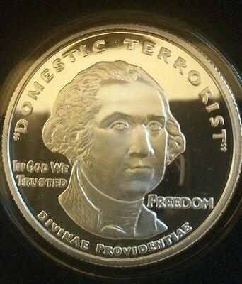 George Washington Funeral Medal 5 oz .999 silver skull /& crossbones free mason
