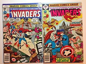 The-Invaders-Comic-book-14-amp-15-1976-1977-Marvel-Bronze-The-Crusaders