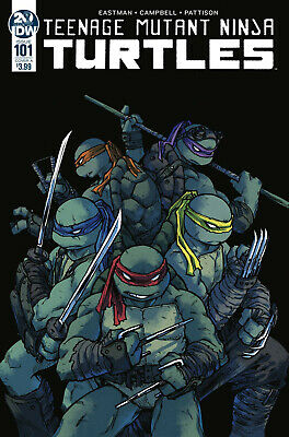TEENAGE MUTANT NINJA TURTLES #61 NEAR MINT SUBSCRIPTION EASTMAN COVER IDW