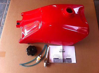 HONDA TRX300 TRX 300 88-92 PLASTIC GAS FUEL TANK FOURTRAX red with petcock usa