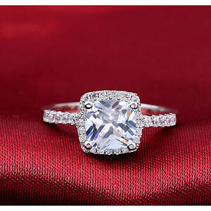 Plata-Esterlina-925-Solitaire-4ct-Cz-Halo-Cluster-Princesa-engagement-dress-Anillo