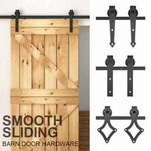 Sliding-Barn-Wood-Door-Track-Hardware-Set-Door-Kit-for-Single-Door-6FT-183cm-AU