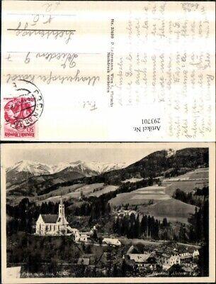 293701,prein An D. Rax Teilansicht Kirche Alpenhotel Unterer Eggl Bergkulisse Hell In Farbe