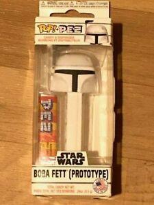 Weiss PEZ Spender Star Wars™ Prototype White Boba Fett Funko Pop