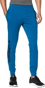 Under Armour Sportstyle Mens Training Pants Blue Stylish Gym Workout Sweatpants